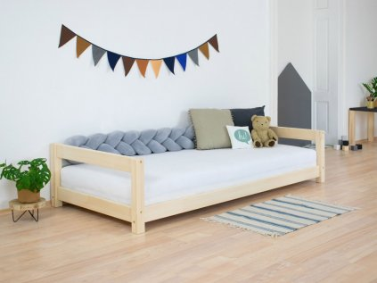 Children's Wooden Bed KIDDY with Two Headboards Natural