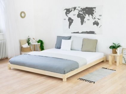 Wooden Double Bed in Japanese Style TATAMI Natural