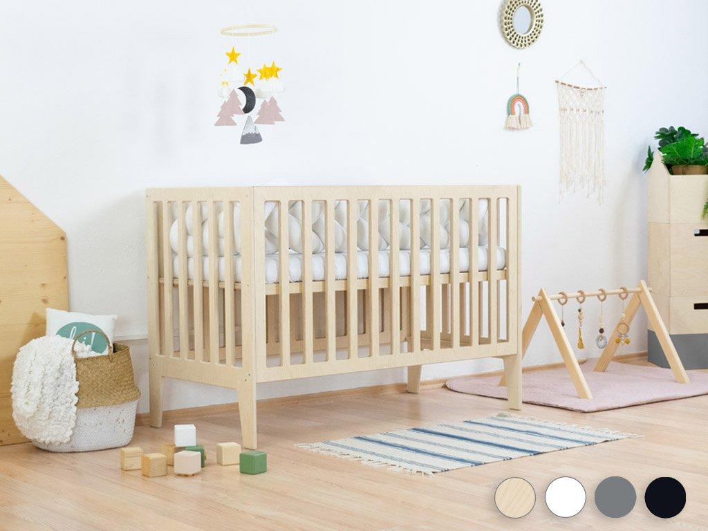 Pătuț pentru bebeluși KIPPY cu înălțimea somierei ajustabile