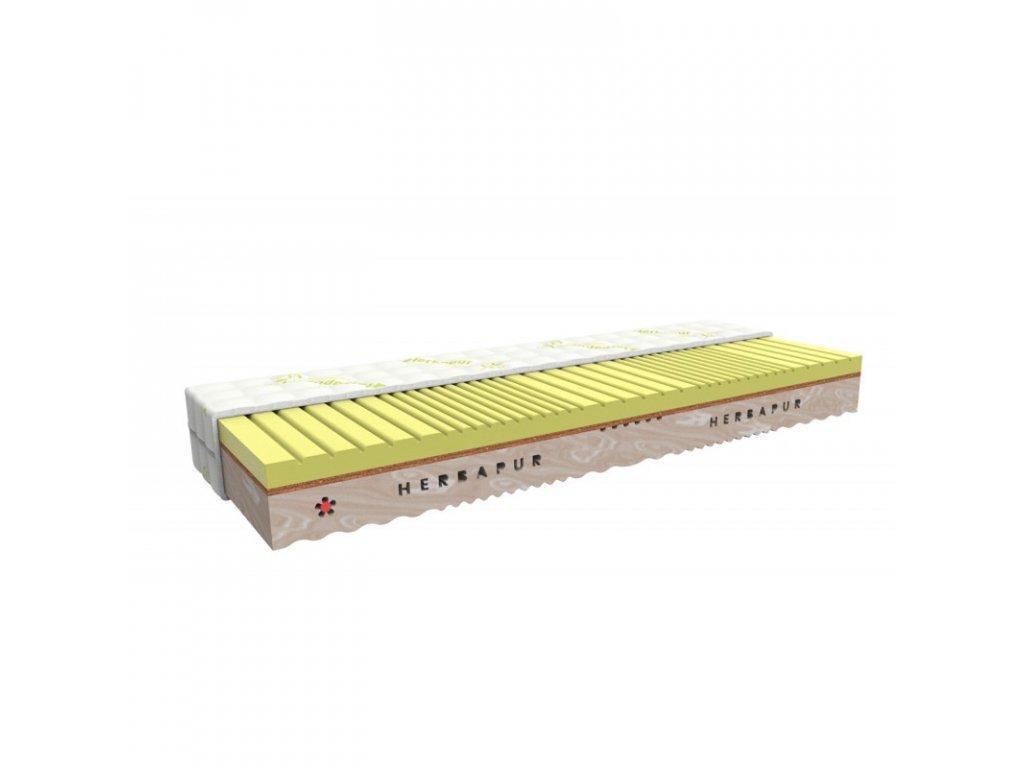 Saltea de sănătate HERBAPUR® ESENCE cu o spumă cu memorie care conține mușețel și agave