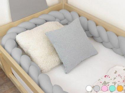 Hand-stew Children's Bed Bumper in Shape of Braid