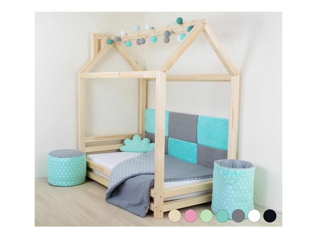 Detská posteľ domček Happy 90x160 cm