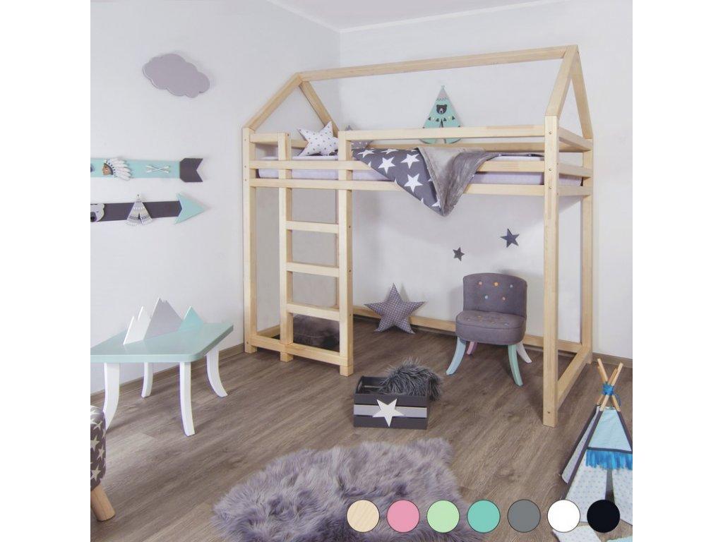 Vyvýšená posteľ Nesty 90x190 cm