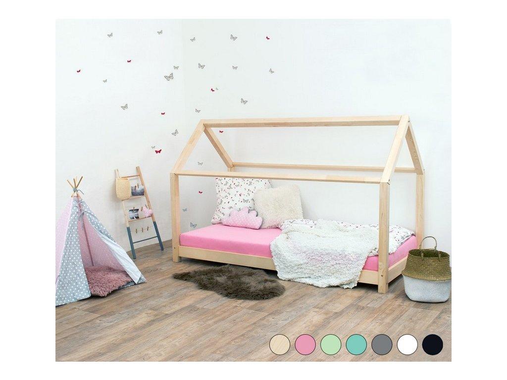 Detská posteľ domček Tery bez bočnice 80x160 cm