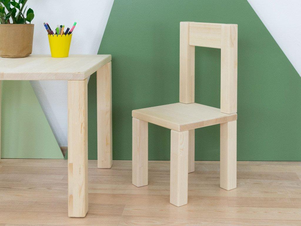 Detská stolička Opee Prírodné