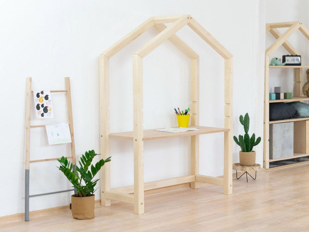 Drevený domčekové stôl Stolly Prírodný