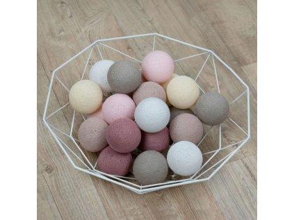 Svietiace gule Balls - Pink rainbow