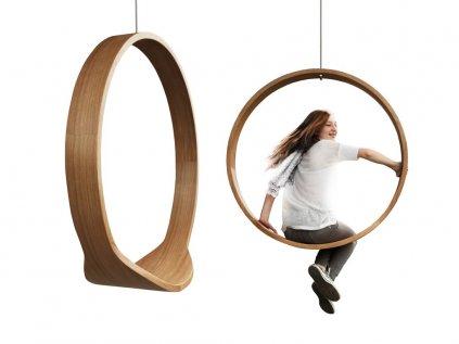Závesná hojdačka Swing I prírodná