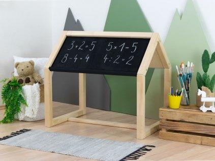 Detský kresliaci domčekový stolík Art tabuľová farba