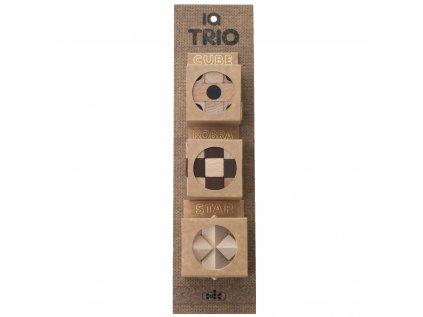 Sada drevených hlavolamov TRIO