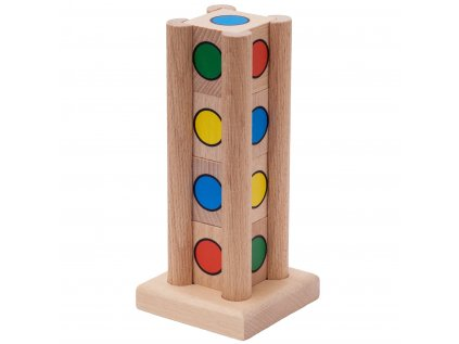 Farebný hlavolam veža QUATRO pre predškolákov