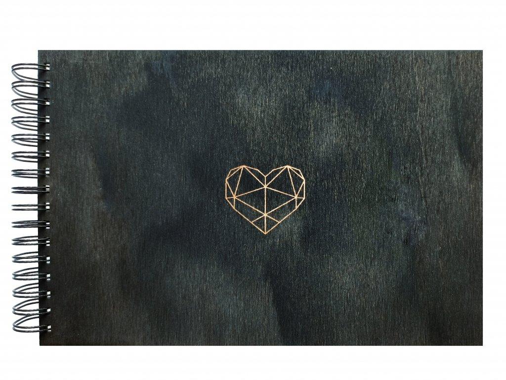 Fotoalbum černé srdce