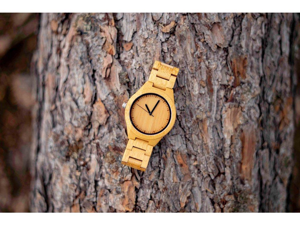 Dřevěné hodinky -Forest