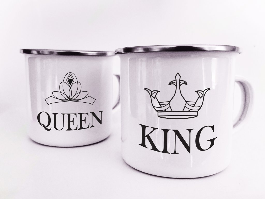 Plecháčky pár king and queen