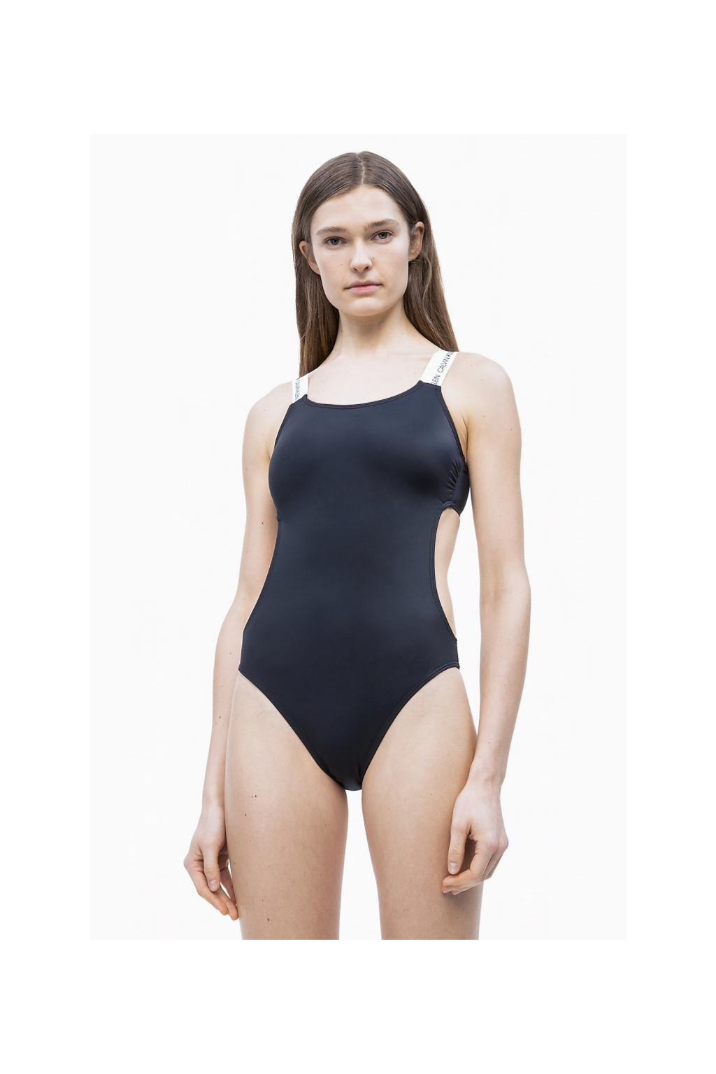 Calvin Klein jednodílné plavky - černá