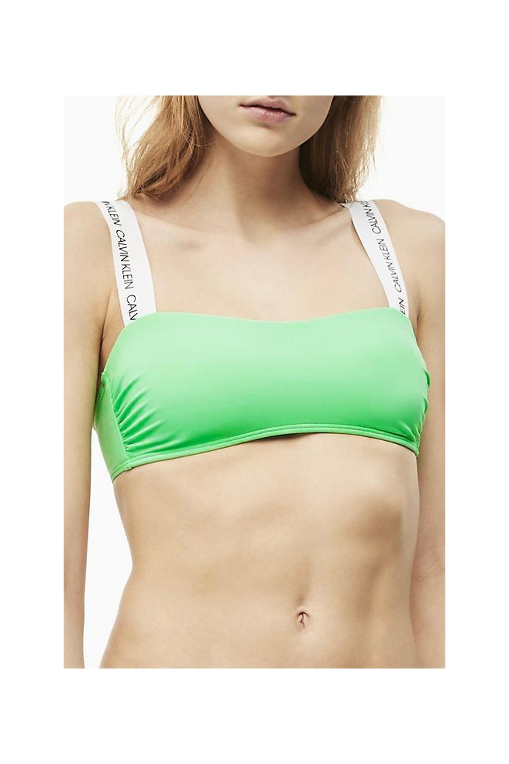 Calvin Klein bandeau plavky vrchní díl - spring green