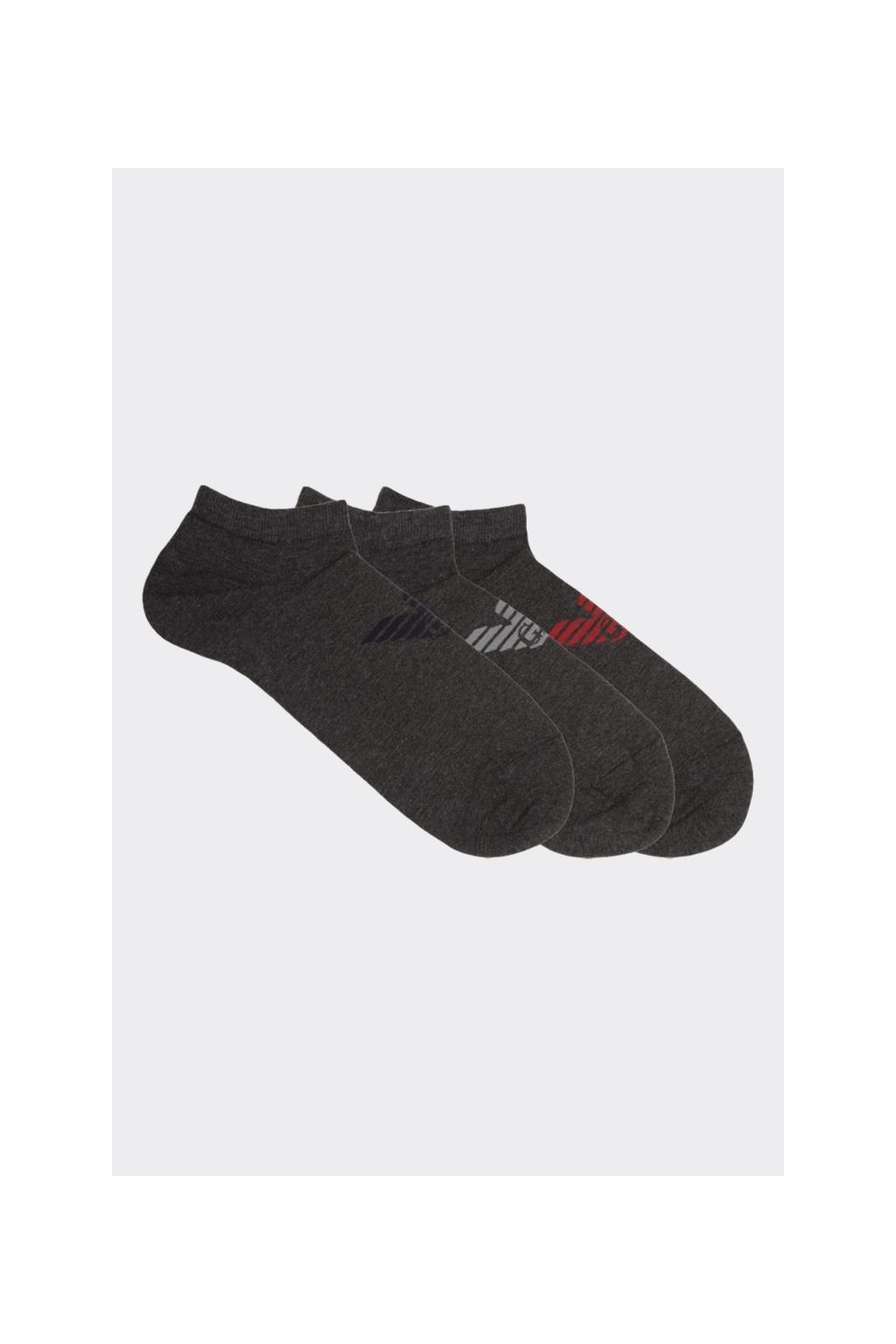 Emporio Armani pánské ponožky 3-balení - šedé