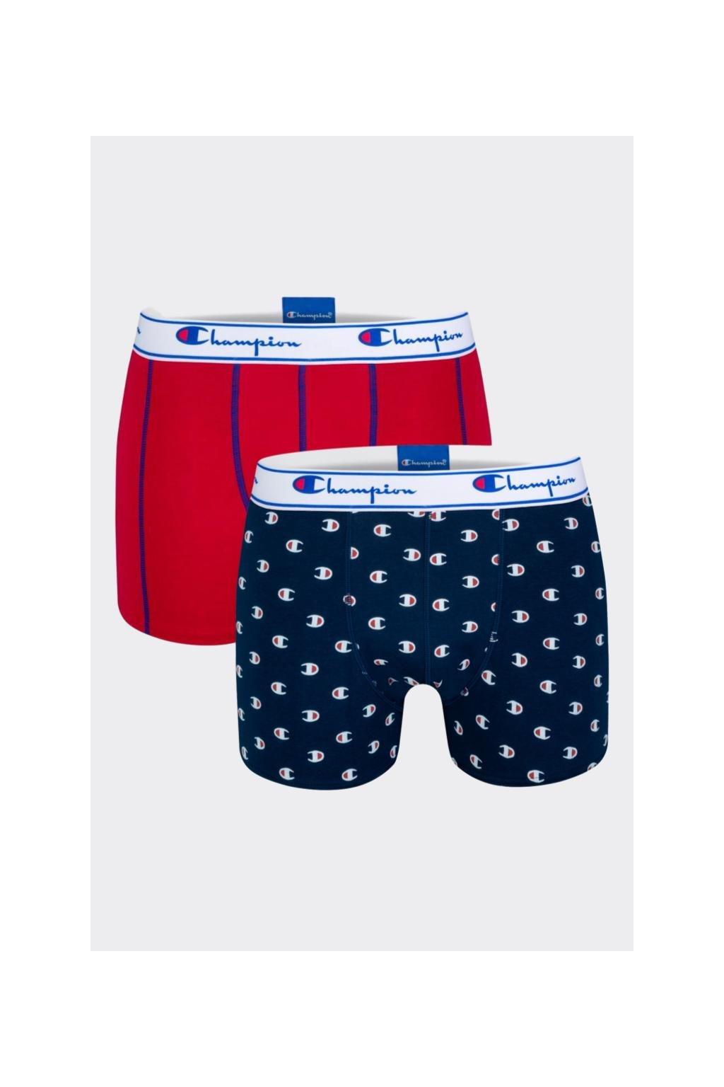 Champion boxerky 2-balení - navy/red