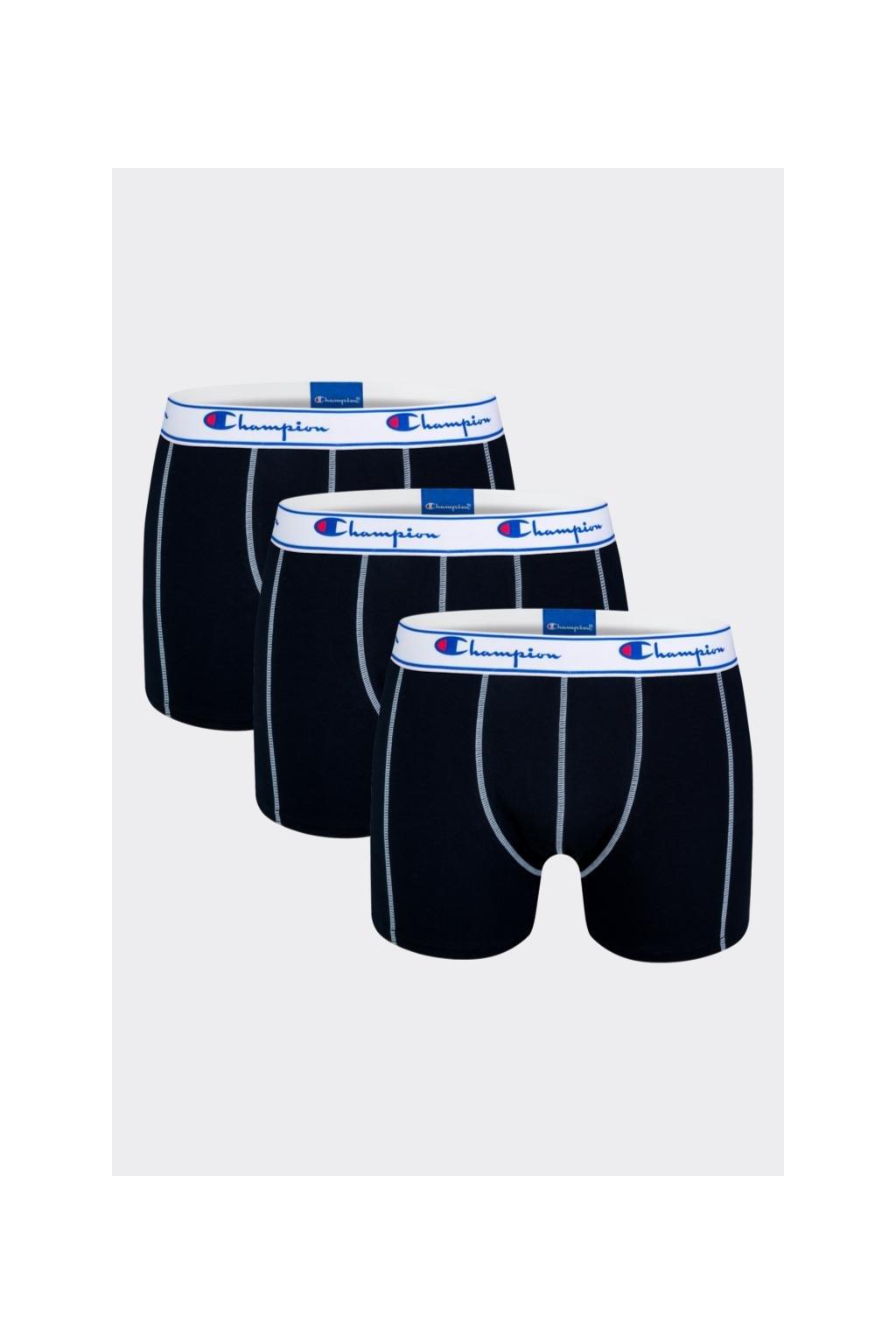 Champion boxerky 3-balení - černé