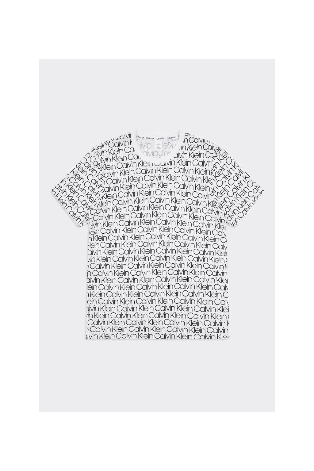 Calvin Klein tričko allover logo - bílé