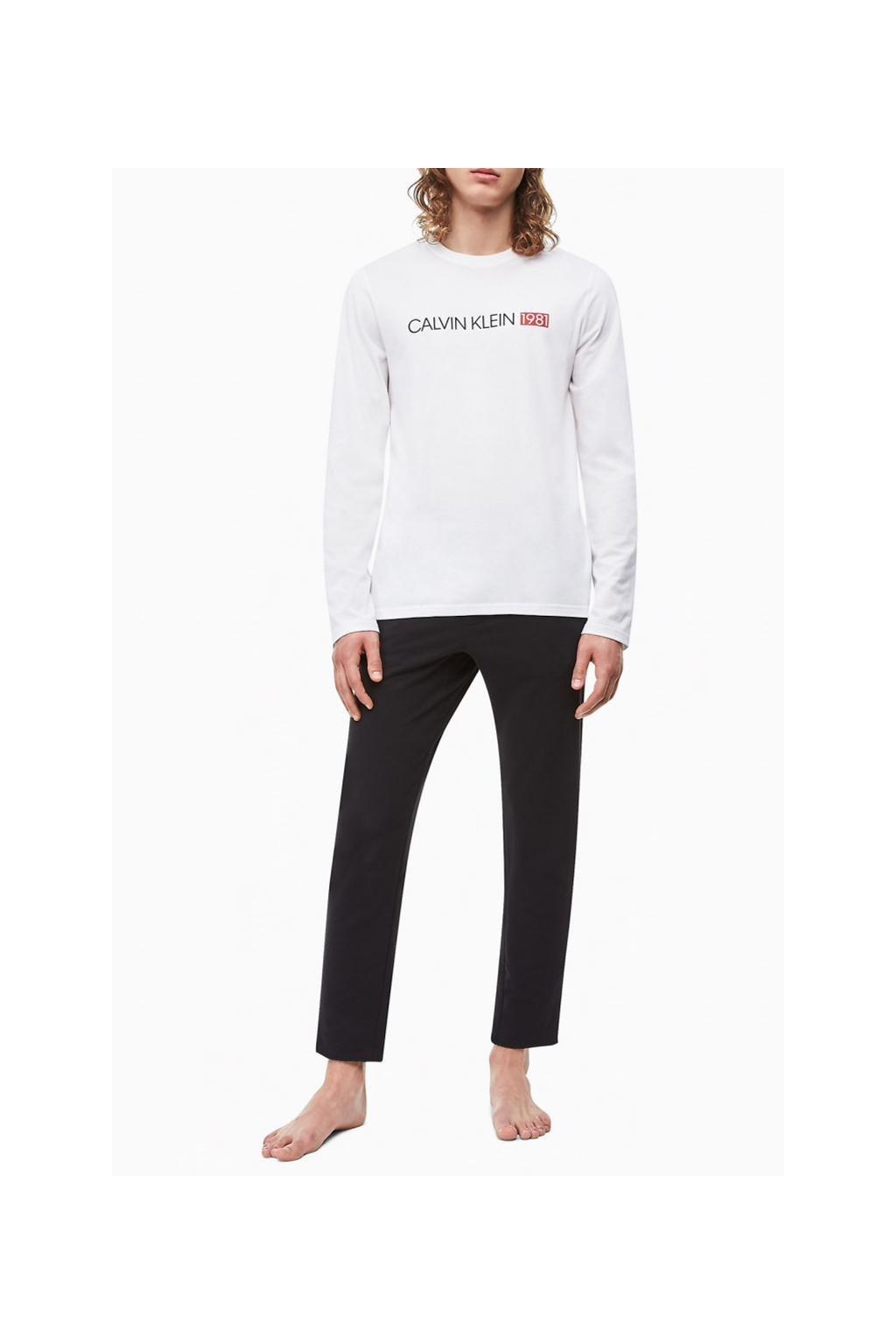 Calvin Klein pánské tričko 1981 bold - bílé