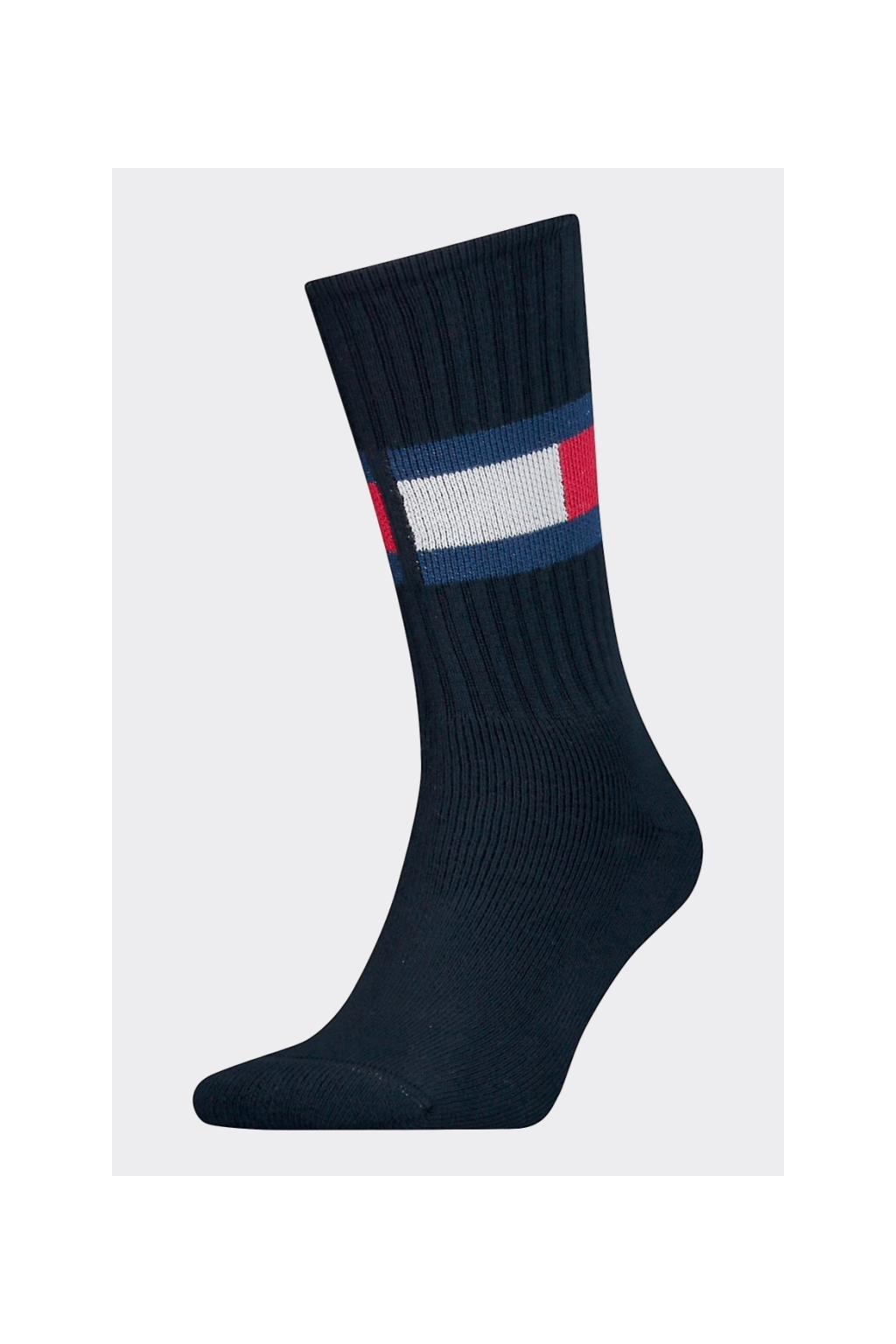 Tommy Hilfiger flag ponožky unisex - tmavě modré