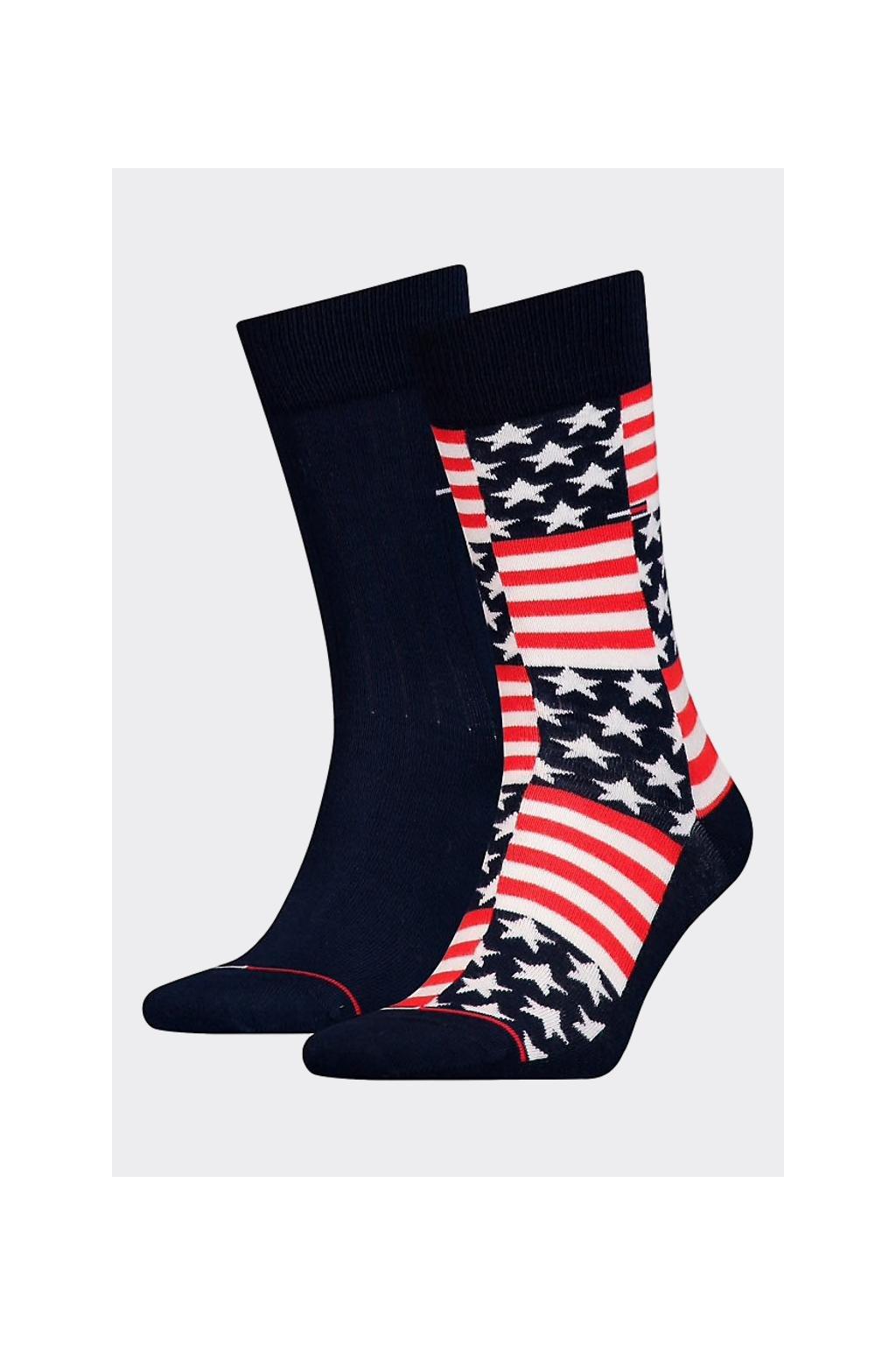 Tommy Hilfiger 2 balení ponožky pánské - usa