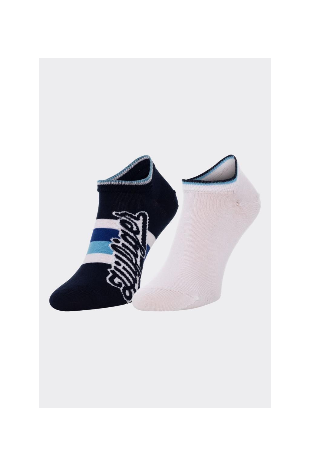 Tommy Hilfiger 2 balení sneaker ponožky pánské - modro-bílé