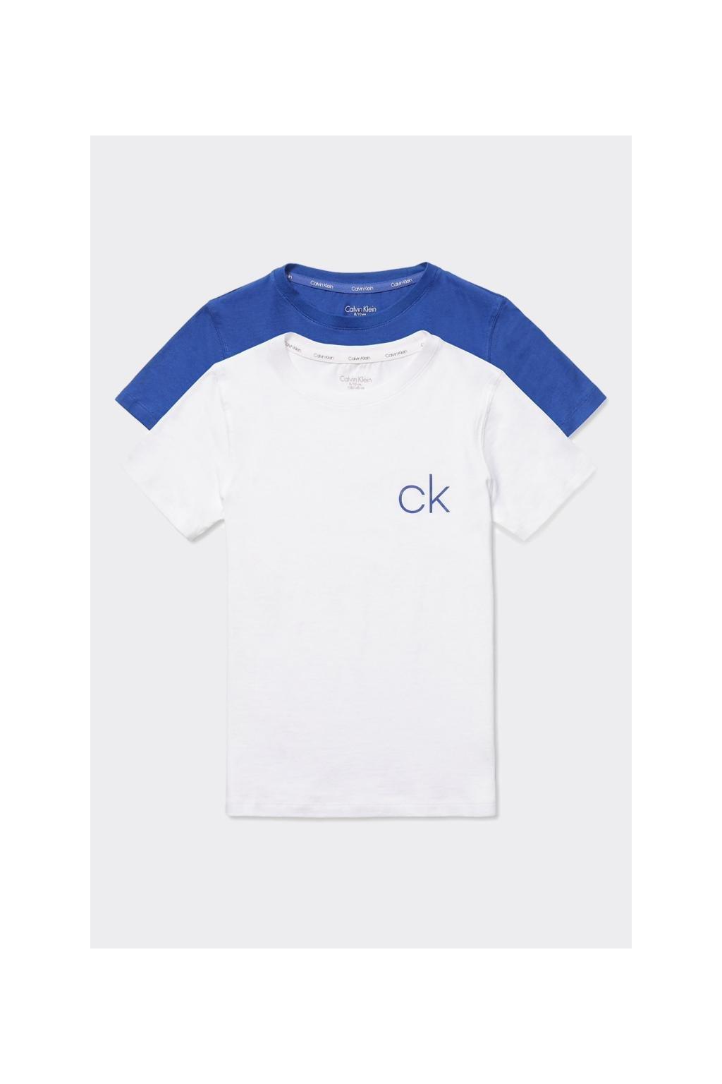 PRO DĚTI! Calvin Klein 2 balení triček BOYS - bílá, modrá