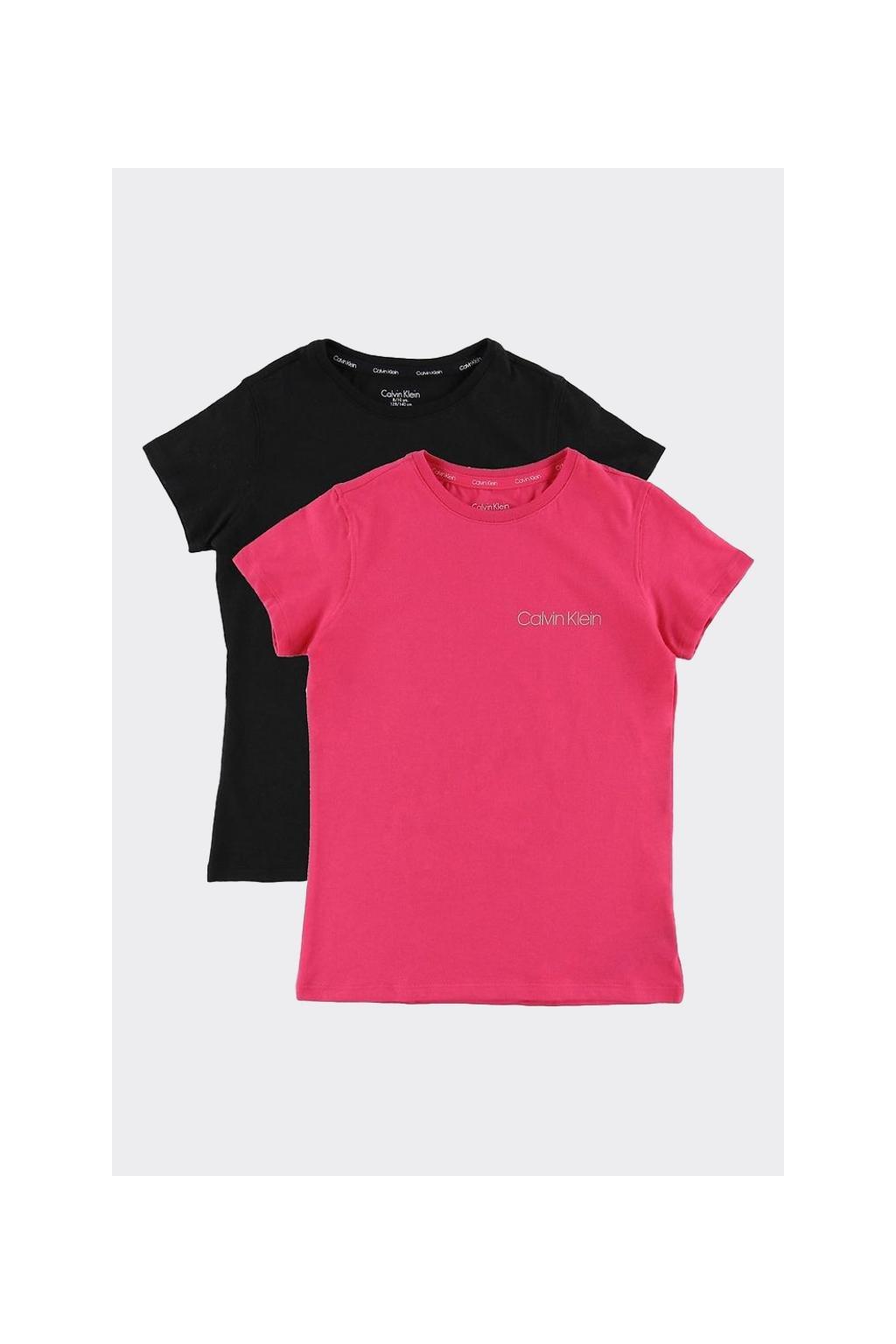 PRO DĚTI! Calvin Klein 2 balení triček GIRLS - růžová, černá