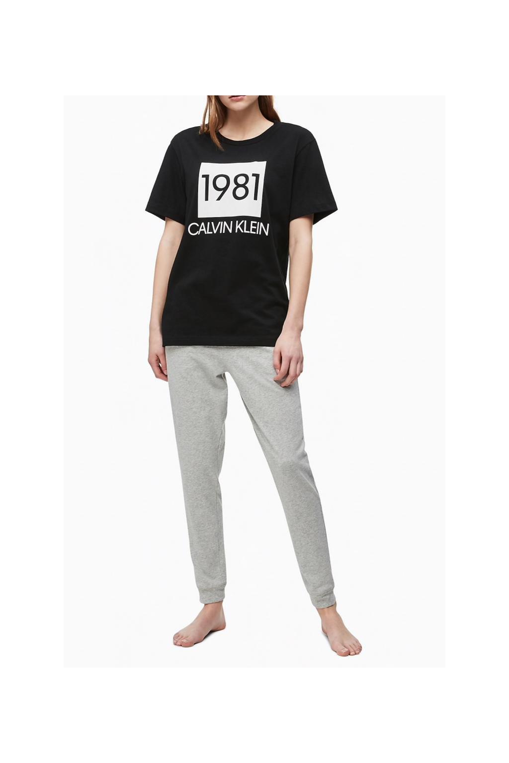 Calvin Klein dámské tričko 1981 Bold - černé