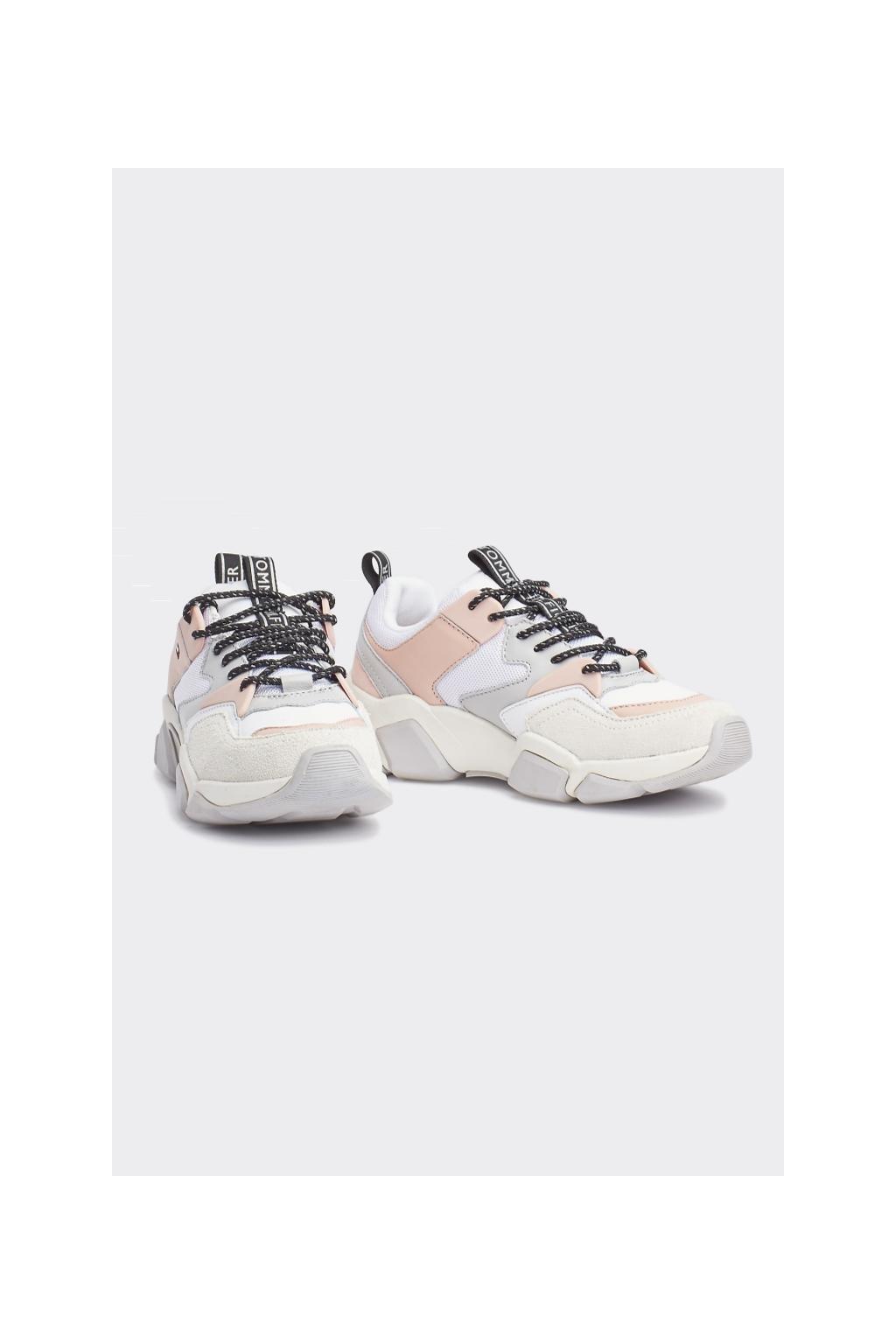 Tommy Hilfiger chunky sneakers - bílá, růžová