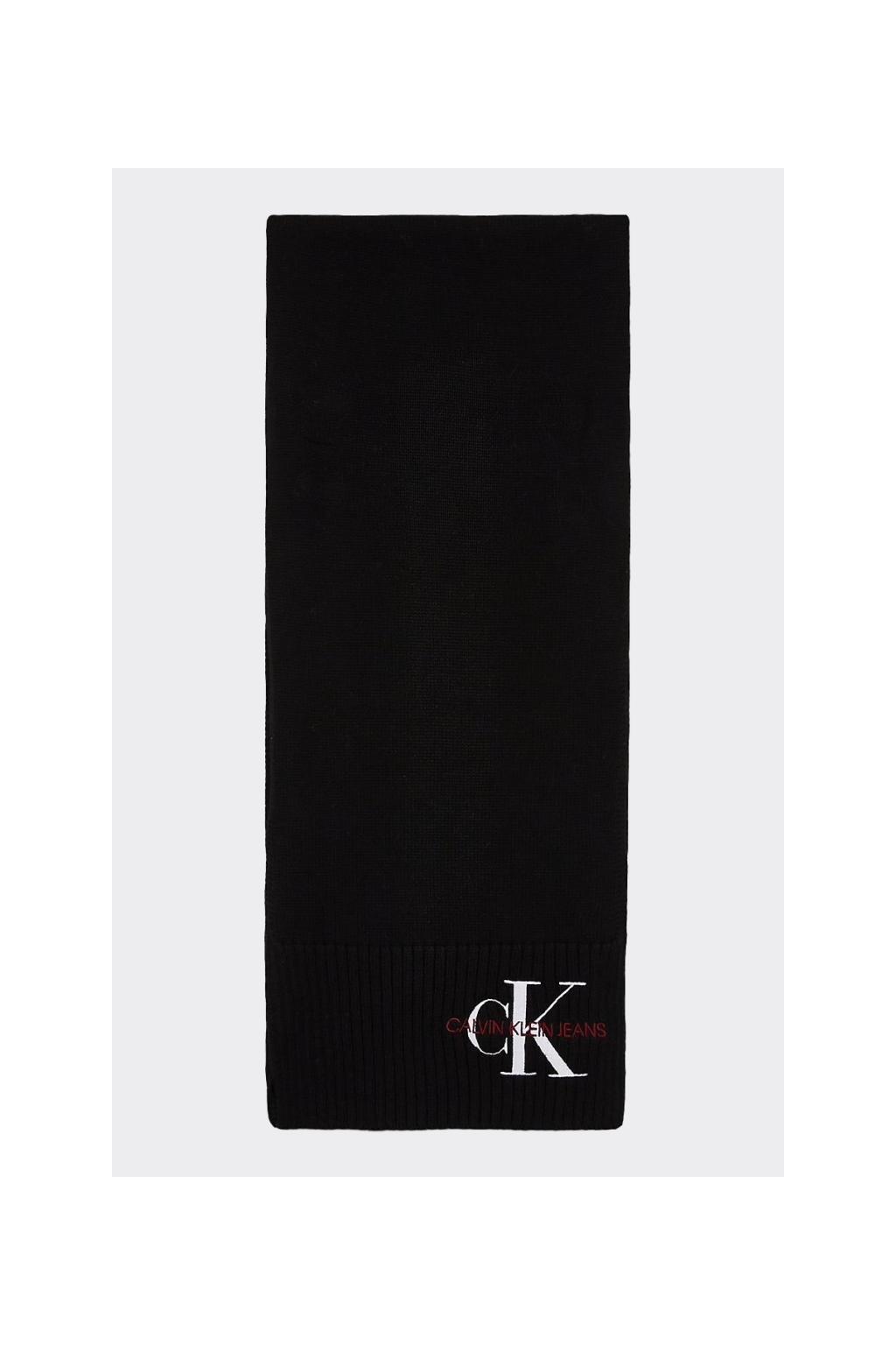 Calvin Klein Jeans šála - černá