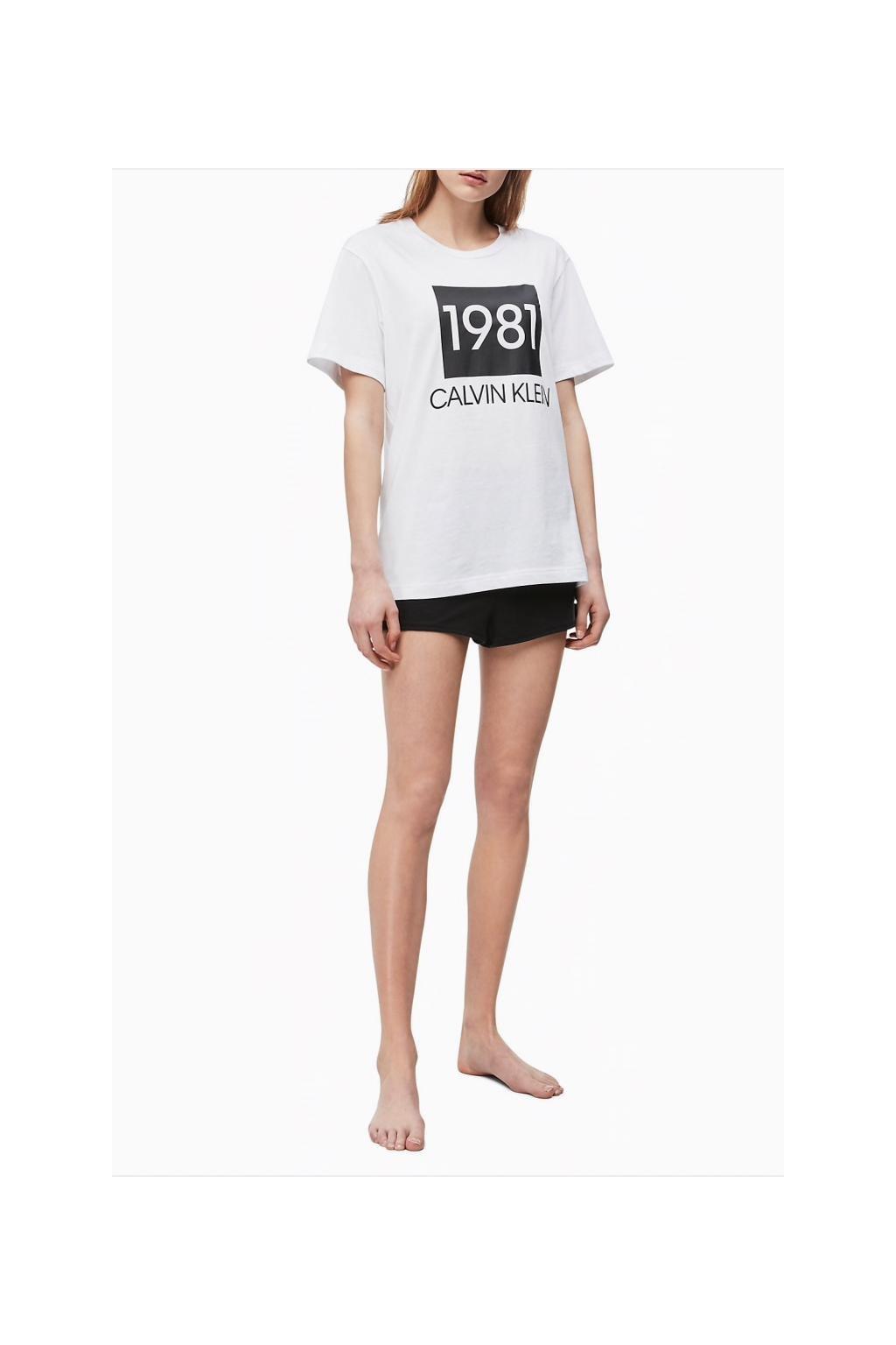 Calvin Klein dámské tričko 1981 Bold - bílé