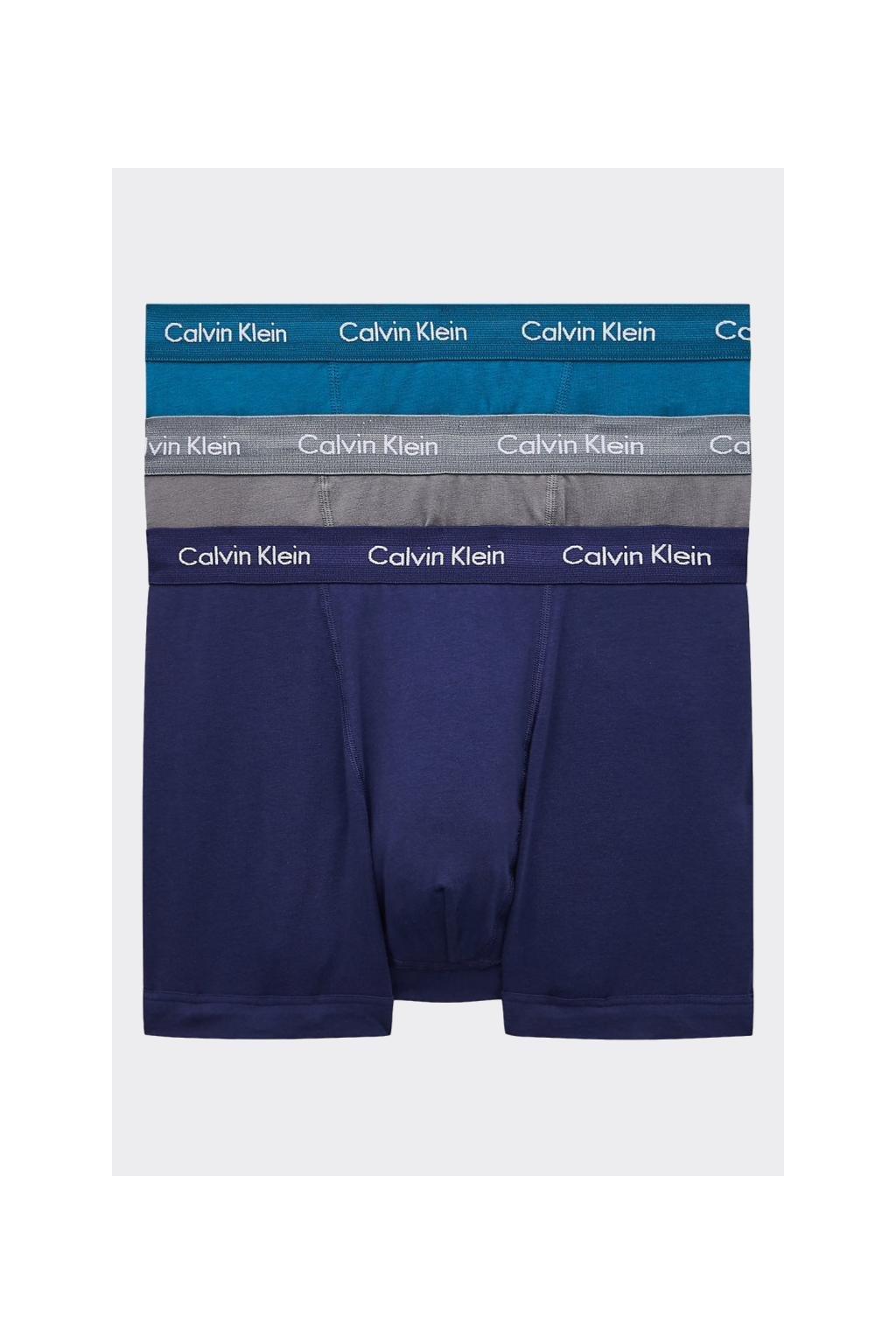 Calvin Klein Boxerky Premium 3 balení - šedá, modrá