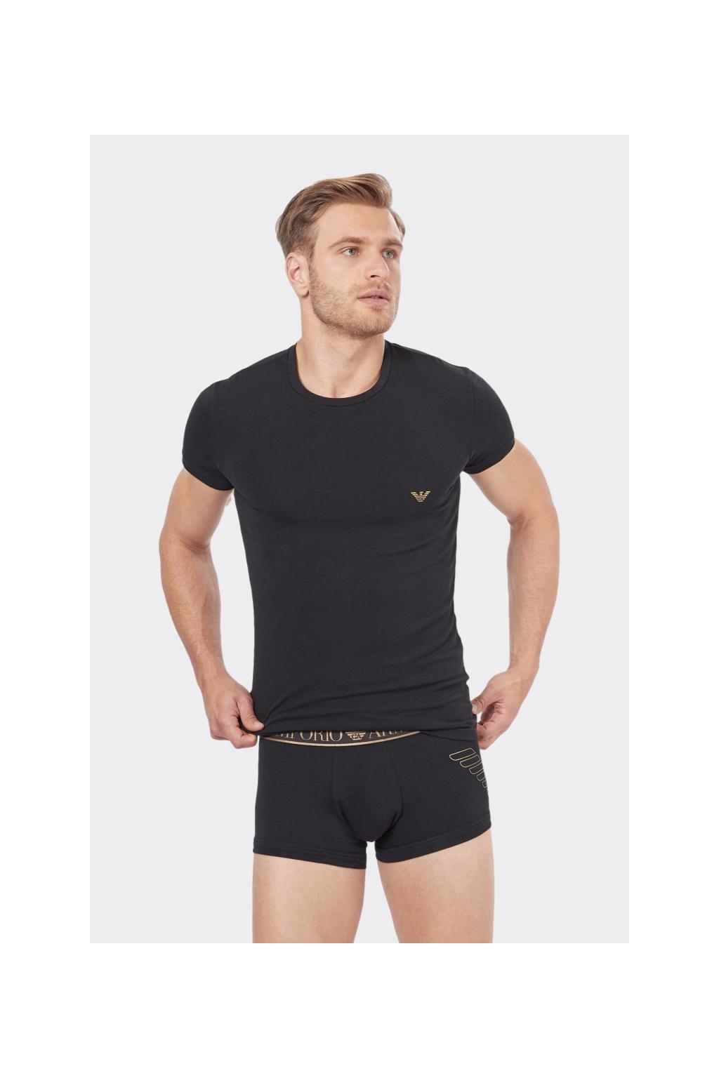 Emporio Armani dárkové balení tričko + boxerky - černá