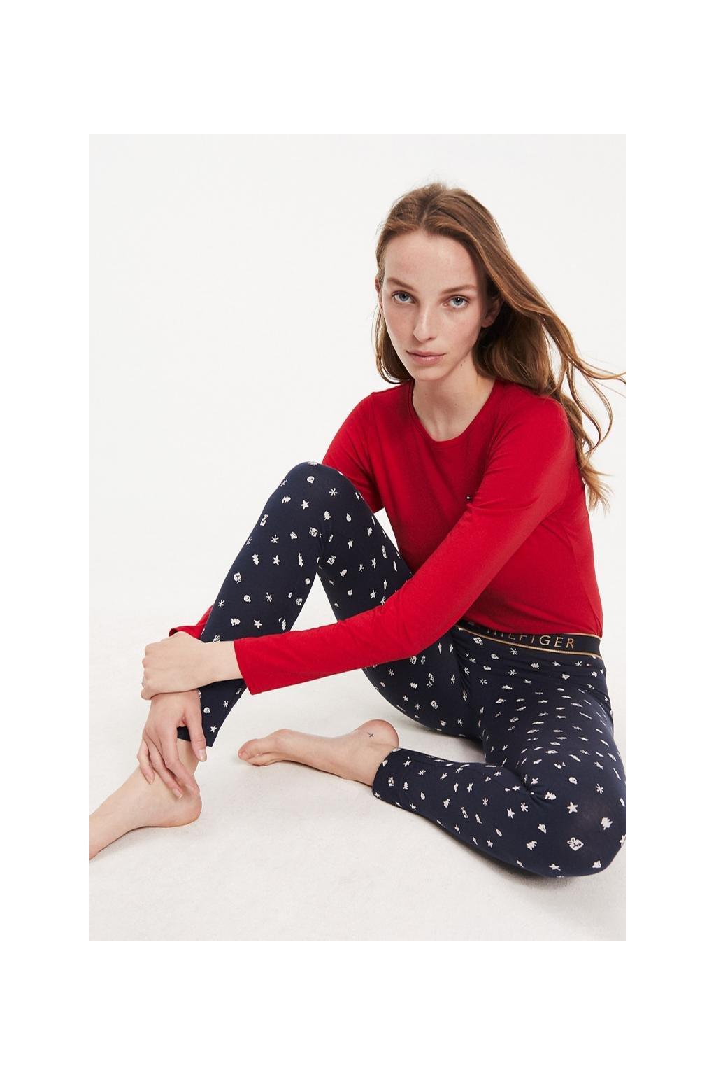 Dárkové balení Tommy Hilfiger pyžamový set dámský - červená, modrá