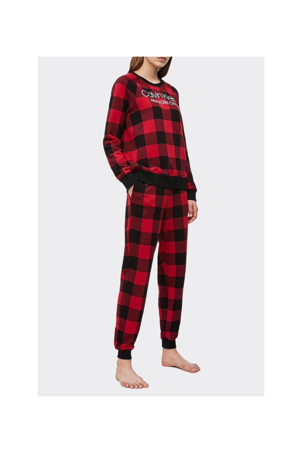 Calvin Klein Modern Cotton dámské tepláky - černá/červená
