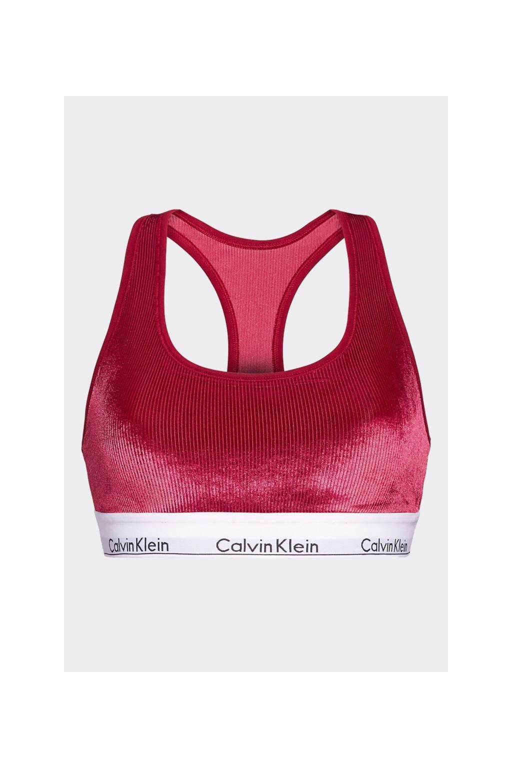 Calvin Klein Modern Cotton VELVET braletka - vínová