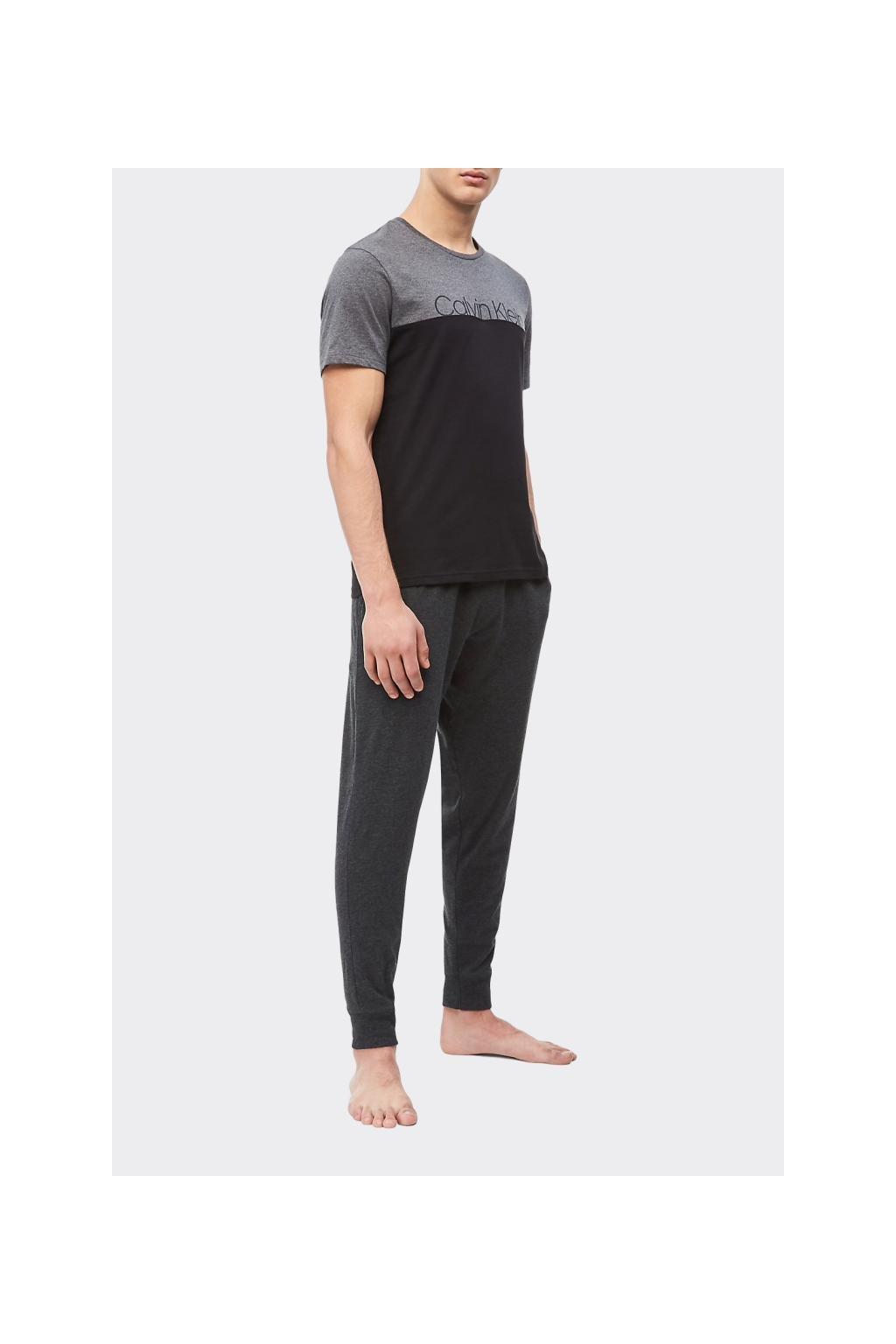 Calvin Klein pánské tričko - černá/šedá
