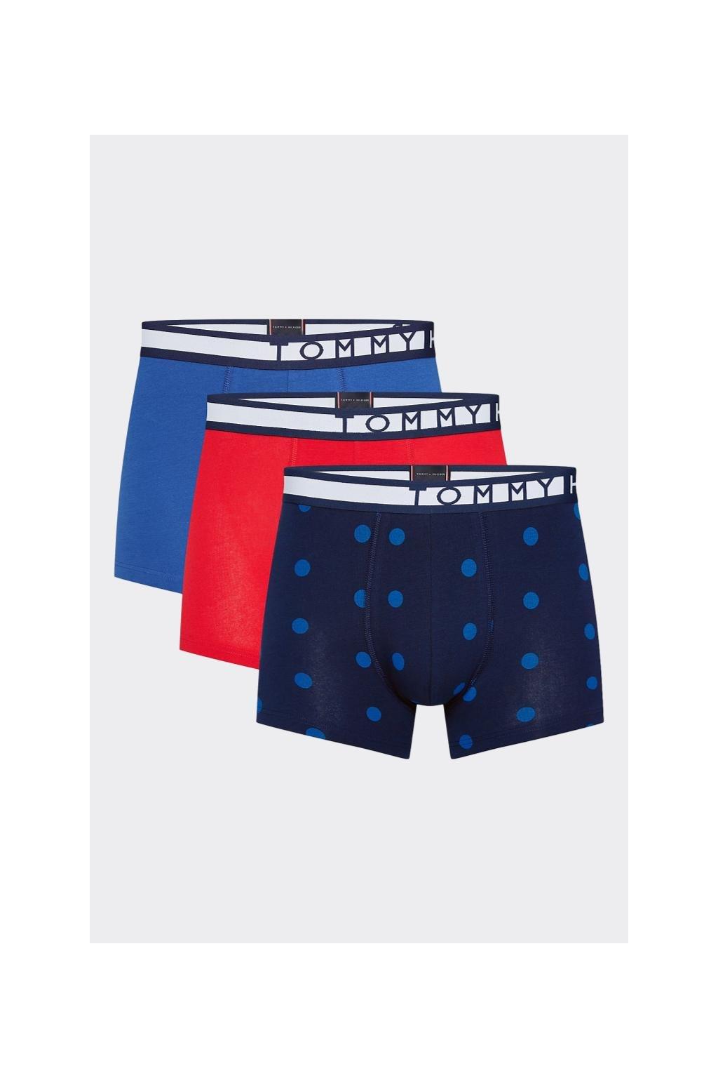 Tommy Hilfiger Statement Boxerky 3 balení -  modrá, červená