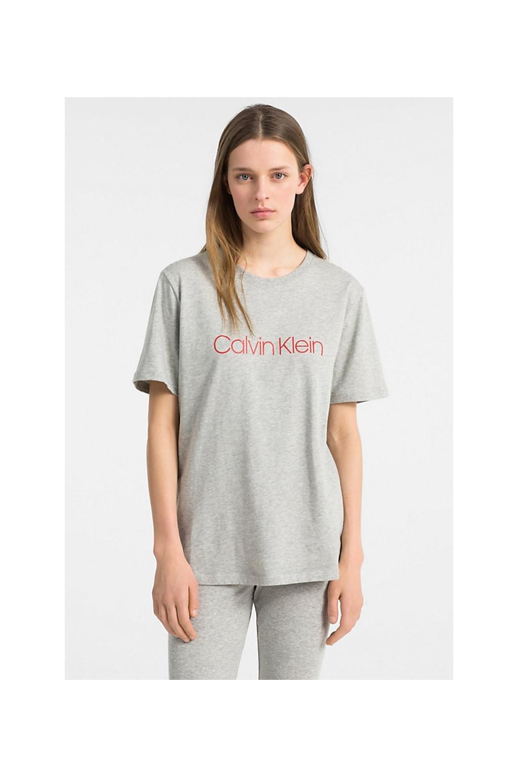 Calvin Klein monogram tričko - šedé