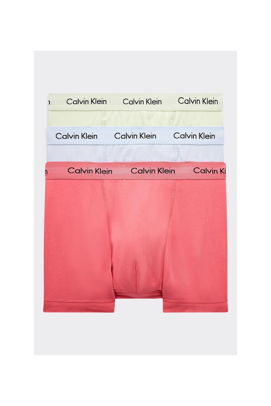 Calvin Klein Boxerky Premium 3 balení - zelená, modrá, oranžová