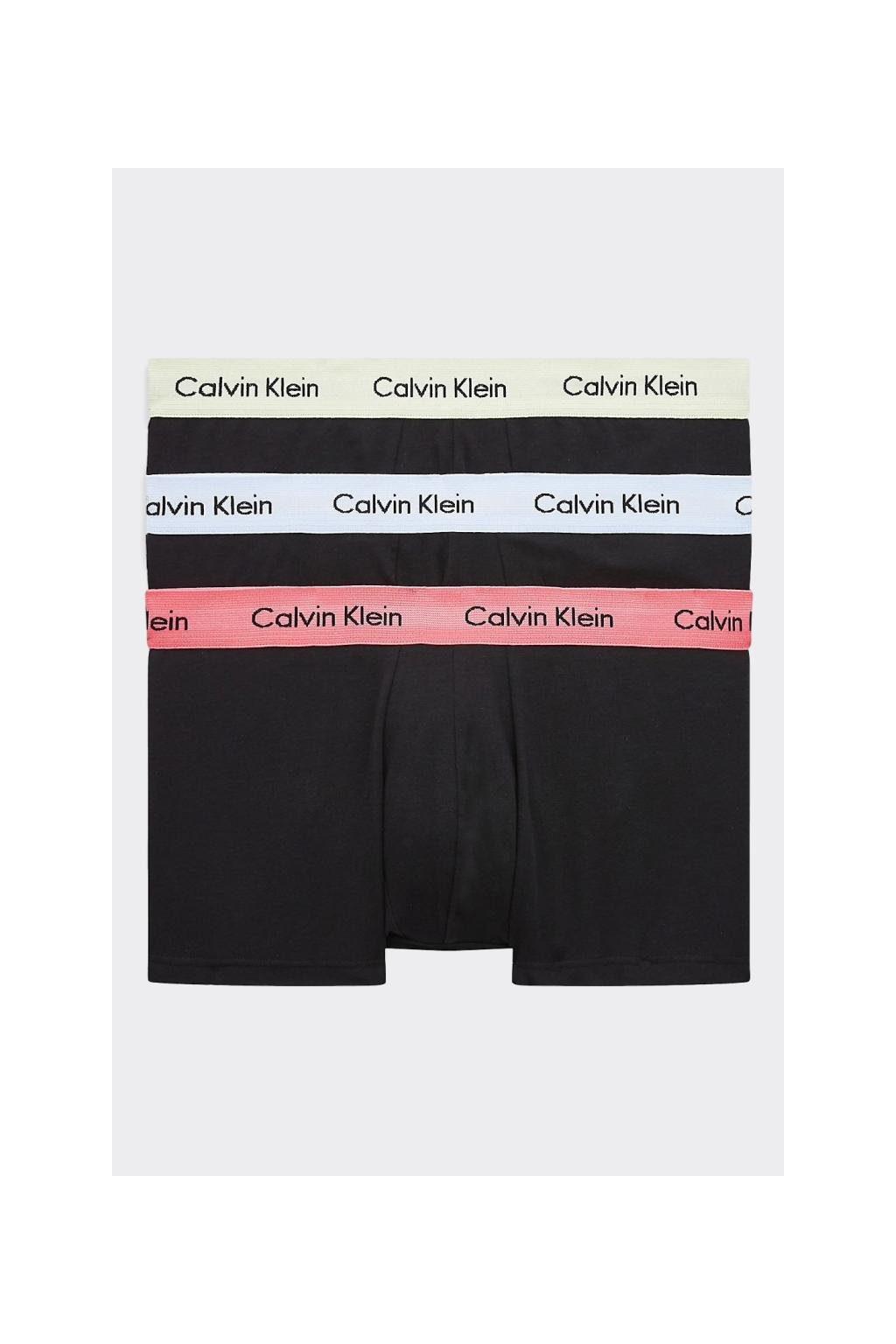 Calvin Klein Boxerky Premium 3 balení - černé/zelená, modrá, oranžová