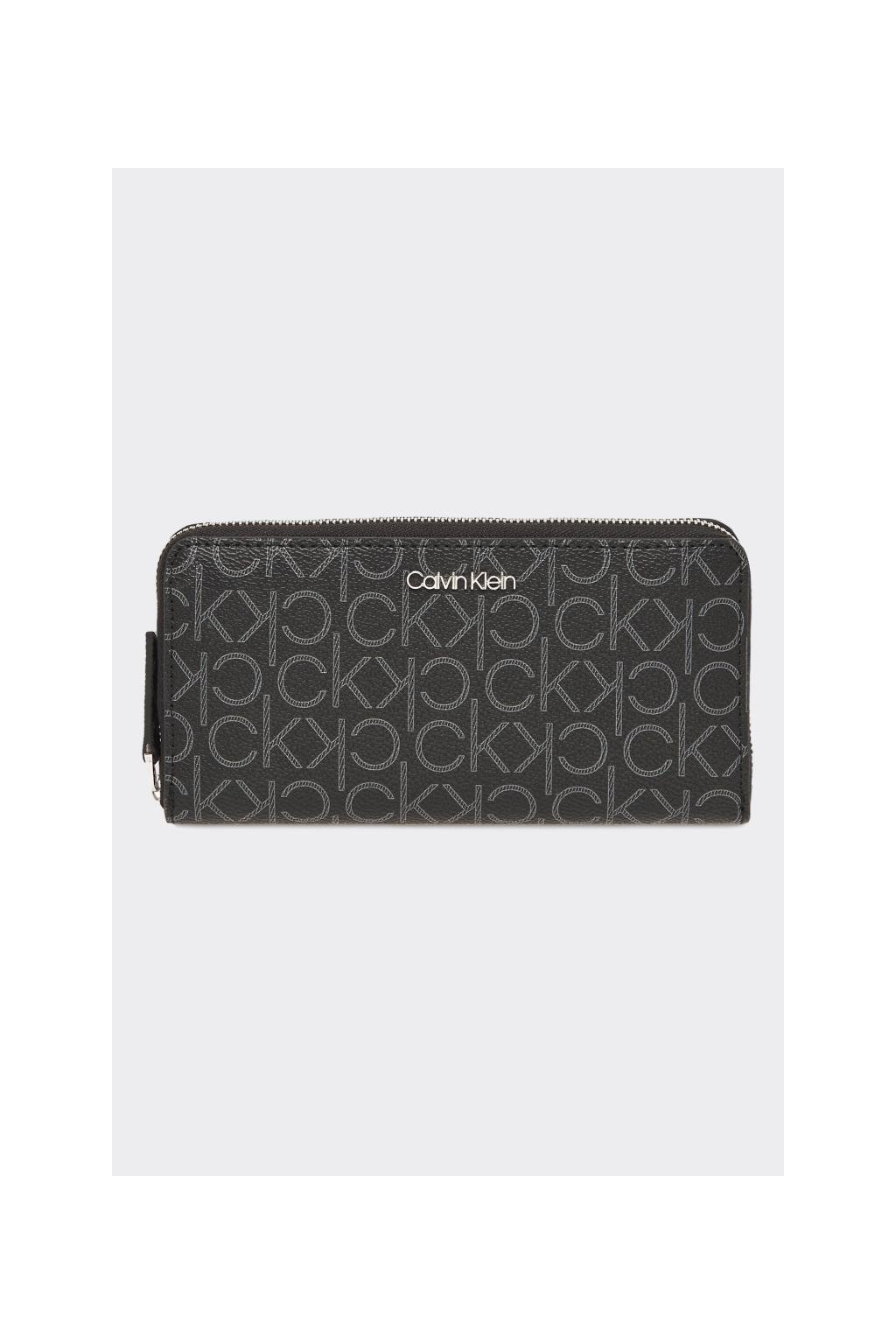Calvin Klein monogram peněženka - černá