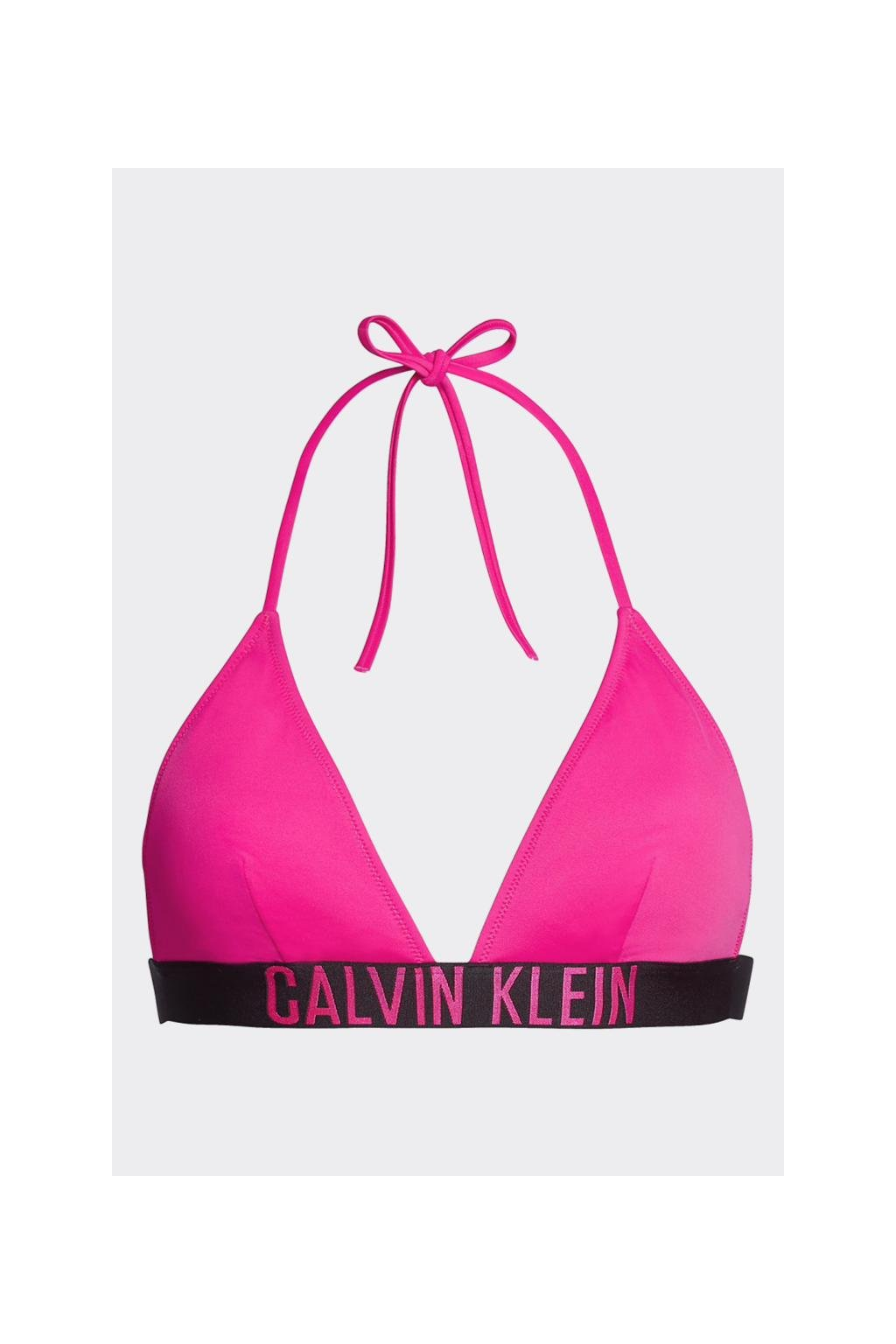 Calvin Klein Intense Power Triangle vrchní díl plavek - růžová