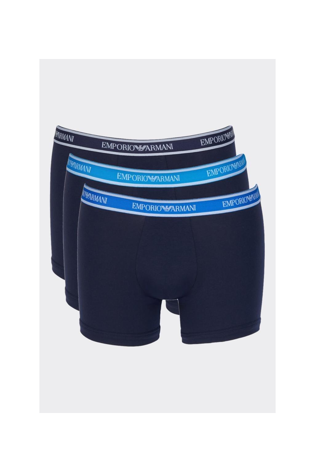 Emporio Armani Logoband Boxerky 3-balení -  tmavě modrá
