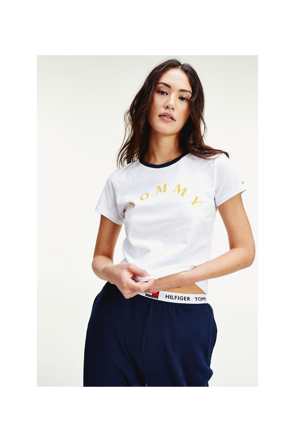 Tommy Hilfiger Slogan tričko dámské - bílé