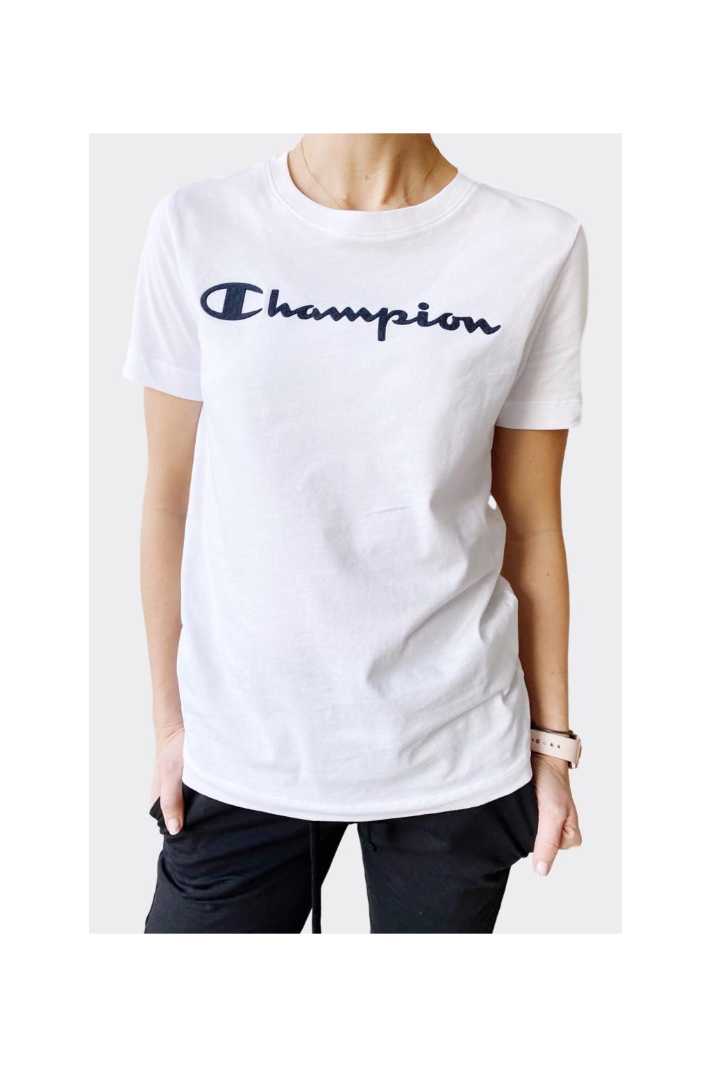 Champion dámské tričko velké logo - bílá