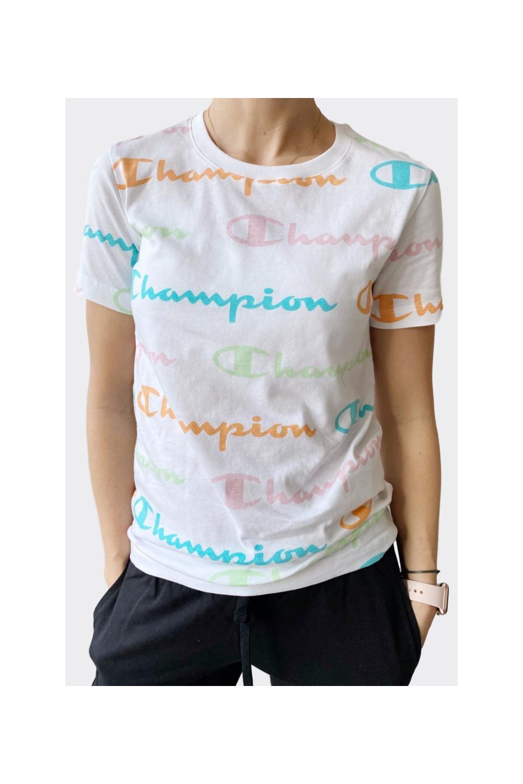 Champion dámské logo tričko - bílá